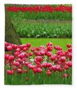 Keukenhof Gardens 91 Fleece Blanket