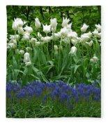 Keukenhof Gardens 92 Fleece Blanket