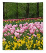 Keukenhof Gardens Panoramic 15 Fleece Blanket