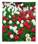 Keukenhof Gardens Panoramic 20 Fleece Blanket