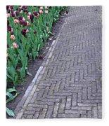 Keukenhof Gardens Panoramic 24 Fleece Blanket