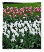 Keukenhof Gardens Panoramic 9 Fleece Blanket