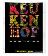 Keukenhof Gardens The Poster Fleece Blanket