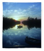 Key Biscayne Sunset 2 Fleece Blanket