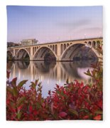 Graceful Feeling - Washington Dc Key Bridge Fleece Blanket