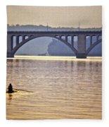 Key Bridge Rower Fleece Blanket
