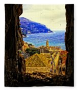 Key Hole View Of Dubrovnik 2 Fleece Blanket