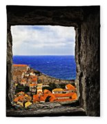 Key Hole View Of Dubrovnik Fleece Blanket