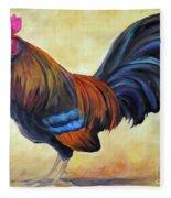 Key West Rooster Fleece Blanket