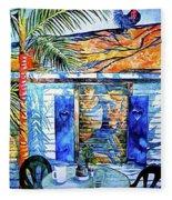 Key West Still Life Fleece Blanket