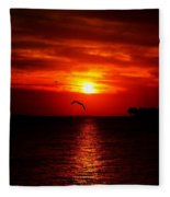 Key West Sunset Fleece Blanket
