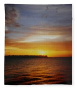 Key West Sunset Fleece Blanket