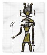 Khensu - God Of Ancient Egypt Fleece Blanket