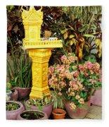 Khmer Shrine Fleece Blanket