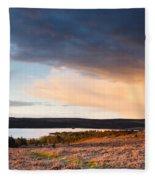 Kielder At Sunset Fleece Blanket