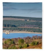 Kielder Dam And Valve Tower Fleece Blanket
