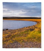 Kielder Dam In Late Evening Fleece Blanket