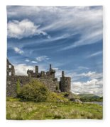 Kilchurn Castle 01 Fleece Blanket