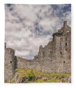 Kilchurn Castle 02 Fleece Blanket
