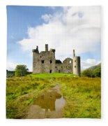 Kilchurn Castle 2 Fleece Blanket