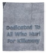 Kilkenny Hurling Monument, Kilkenny Fleece Blanket