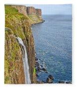 Kilt Rock Waterfall Fleece Blanket