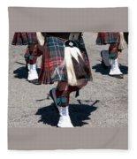Kilts On Parade Fleece Blanket