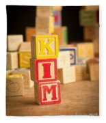 Kim - Alphabet Blocks Fleece Blanket