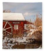 Kimberton Mill After Snow Fleece Blanket