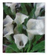 Kim's Flowers Fleece Blanket