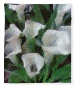 Kim's Flowers Fleece Blanket