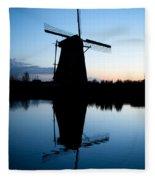 Kinderdijk Dawn Fleece Blanket