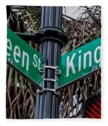 King And Queen Street Fleece Blanket