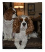 King Charles Dogs Fleece Blanket