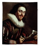 King Charles I Of England (1600-1649) Fleece Blanket