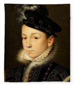 King Charles Ix Of France Fleece Blanket