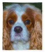 King Charles Spaniel Fleece Blanket