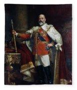 King Edward Vii Of England (1841-1910) Fleece Blanket