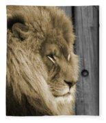King In Sepia Fleece Blanket