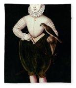 King James I Of England Fleece Blanket