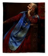 King John Ponders The Magna Carta Fleece Blanket