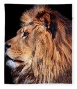 King Of Beast Fleece Blanket