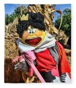 King Of Hearts Scarecrow By Diana Sainz Fleece Blanket