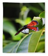 King Of The Butterflies Fleece Blanket