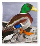 King Of The Pond Fleece Blanket