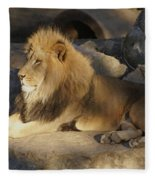 King Of The Rock Fleece Blanket