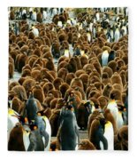 King Penguin Colony Fleece Blanket