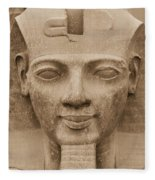 King Ramses II  Fleece Blanket