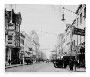 King Street In Charleston South Carolina Circa 1910 Fleece Blanket