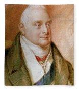 King William Iv Of England (1765-1837) Fleece Blanket